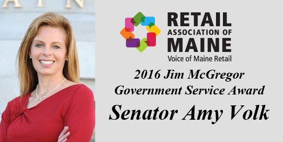 In recognition of her dedication to supporting Maine's retailers and improving Maine's economy.