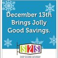 Shop Second Saturday is December 13th! Register NOW!